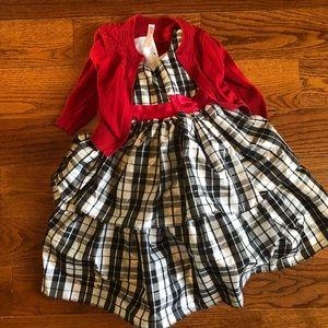 Girls Holiday Dress & Cardigan 4/5